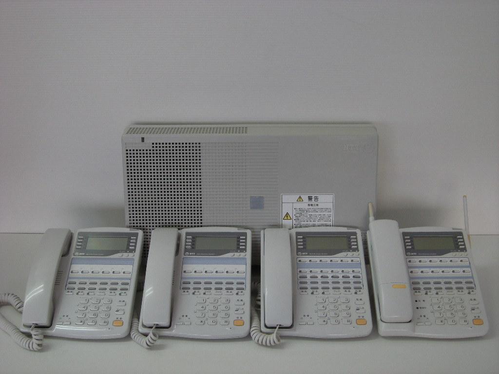 【設置工事付き】NTT RX2 標準電話機2台+留守番電話機1台+カールコードレス電話機1台セット 【ビジネスホン・業務用電話機】【お買い得!】