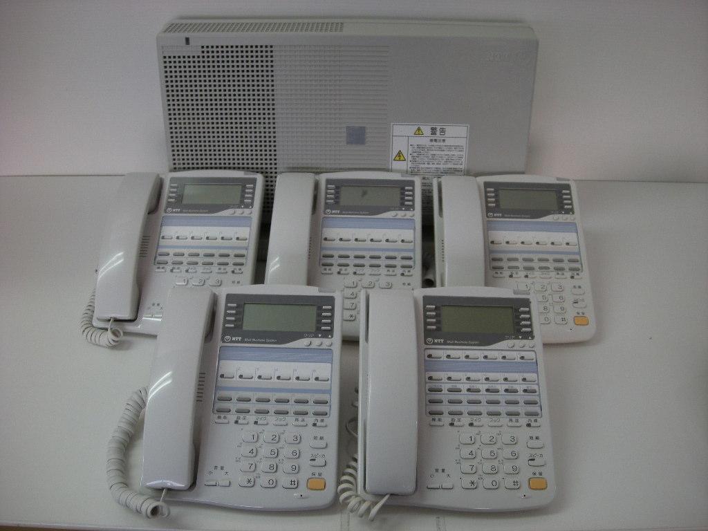 【設置工事付き】NTT RX2 標準電話機4台+留守番電話機1台セット 【ビジネスホン・業務用電話機】【お買い得!】