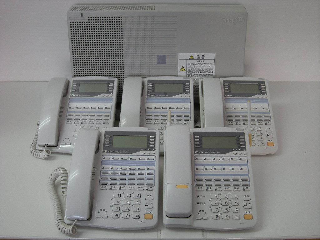 【設置工事付き】NTT RX2 標準電話機3台+留守番電話機1台+カールコードレス電話機1台セット 【ビジネスホン・業務用電話機】【お買い得!】