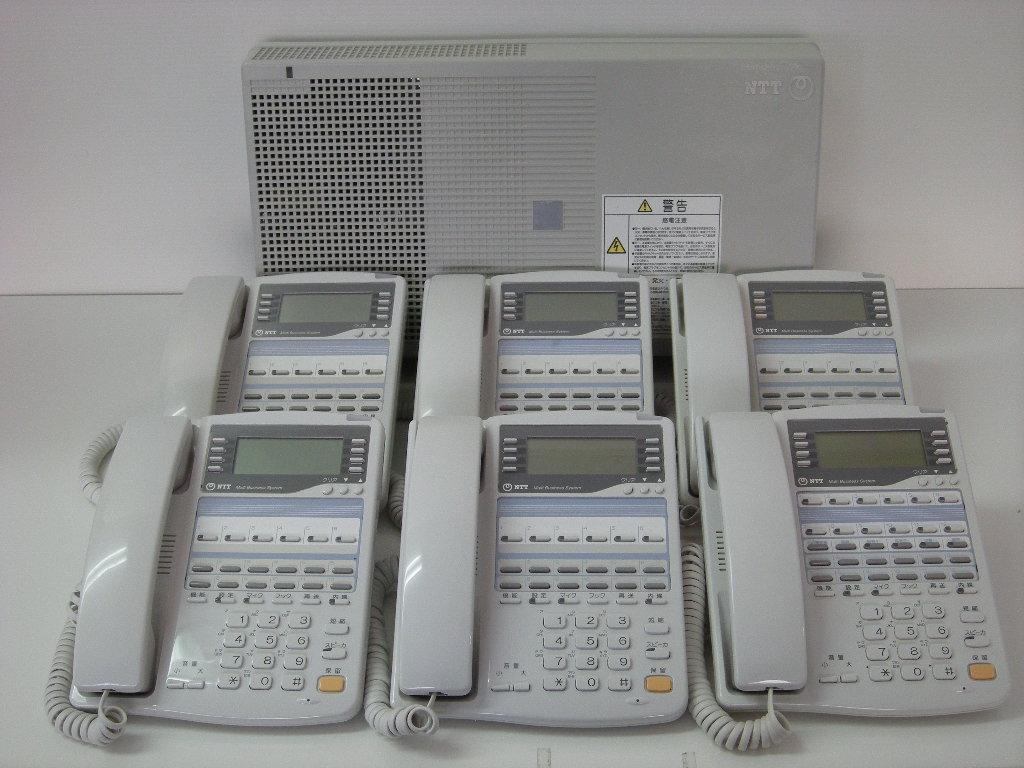 【設置工事付き】NTT RX2 標準電話機5台+留守番電話機1台セット 【ビジネスホン・業務用電話機】【お買い得!】