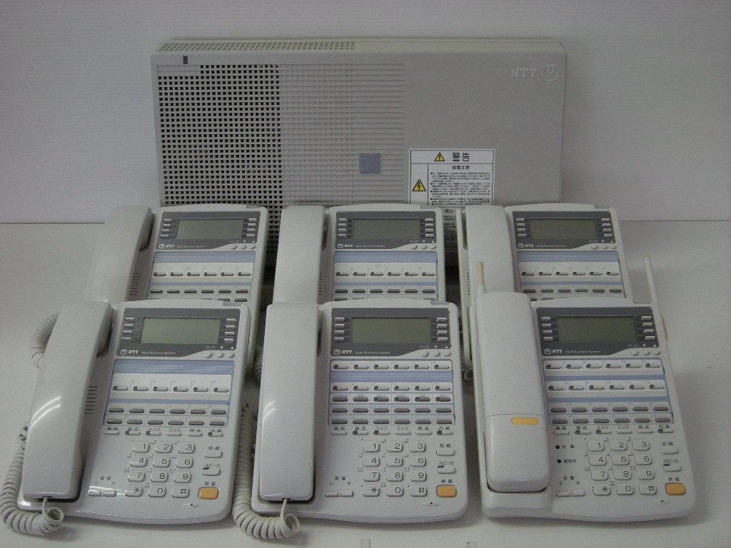 【設置工事付き】NTT RX2 標準電話機4台+留守番電話機1台+カールコードレス電話機1台セット 【ビジネスホン・業務用電話機】【お買い得!】