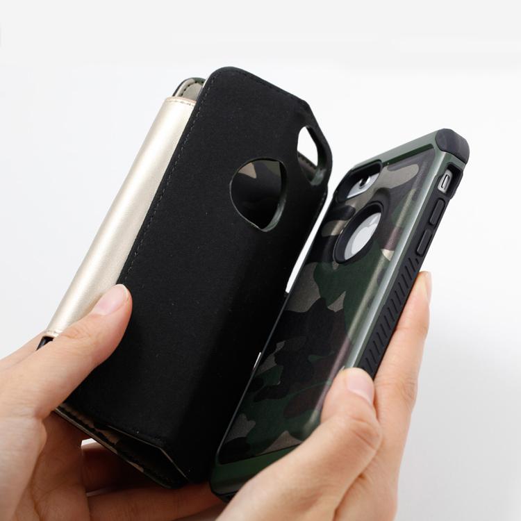 8f8a694000 楽天市場】送料無料 メール便 iPhone8/7 手帳型 ミリタリー タフケース ...