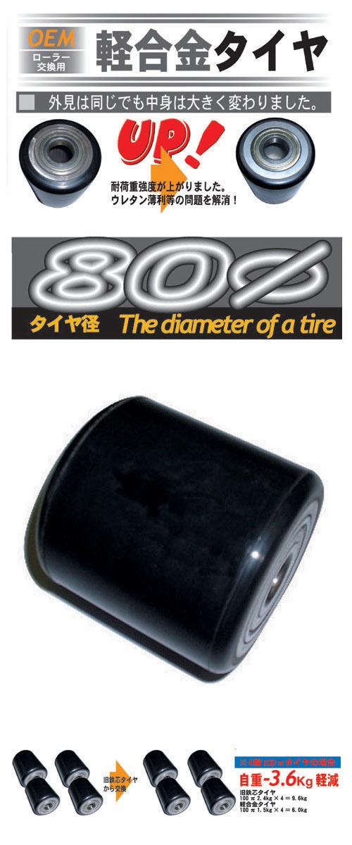 交換用タイヤ80π