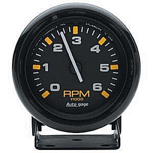低回転用 タコメーター オートメーター アメ車に ラムバン アストロ 6000回転6千 限定
