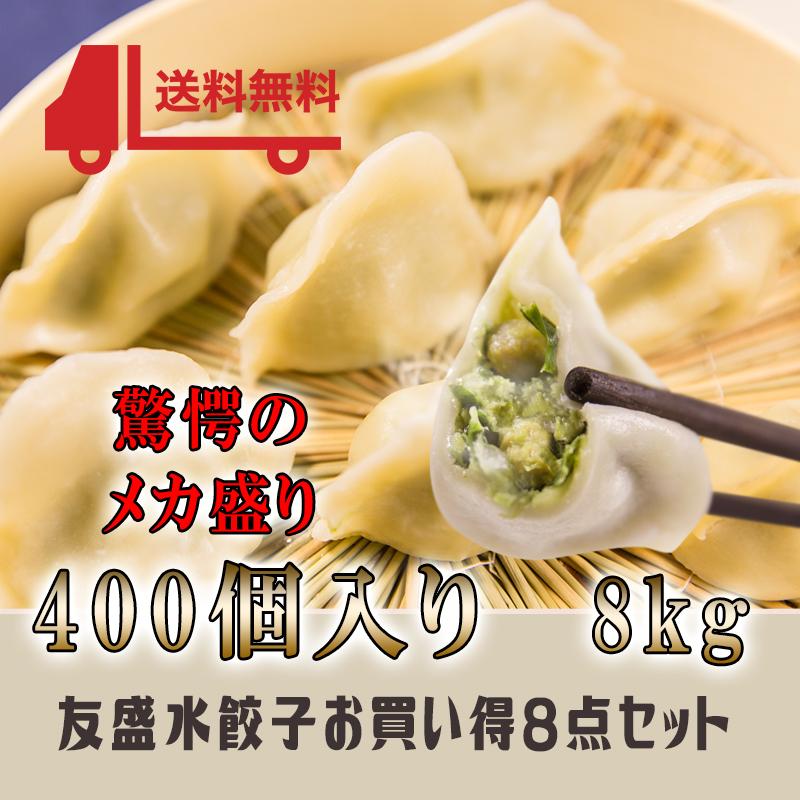 お買得8点セット 中国名点友盛特色水餃子 中華料理人気商品・中国名物