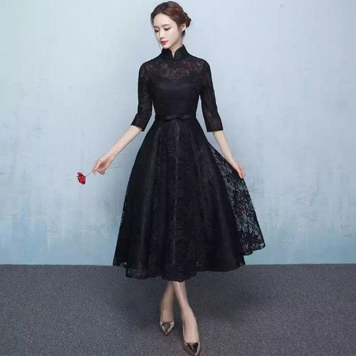 パーティードレス 韓国 ドレス ミディアム 個性的 ワンピース 総レース ハイネック 結婚式 定価の67%OFF 二次会 ミニ 長袖 30代 3L 40%OFFの激安セール 20代 M 白ホワイト黒ブラック L XL 袖あり S