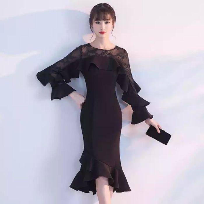 パーティードレス 韓国 ドレス ミディアム 個性的 ワンピース 総レース 定番から日本未入荷 ハイネック 結婚式 二次会 ミニ S M 3L 白ホワイト黒ブラック 30代 XL 20代 長袖 袖あり 送料無料新品 L