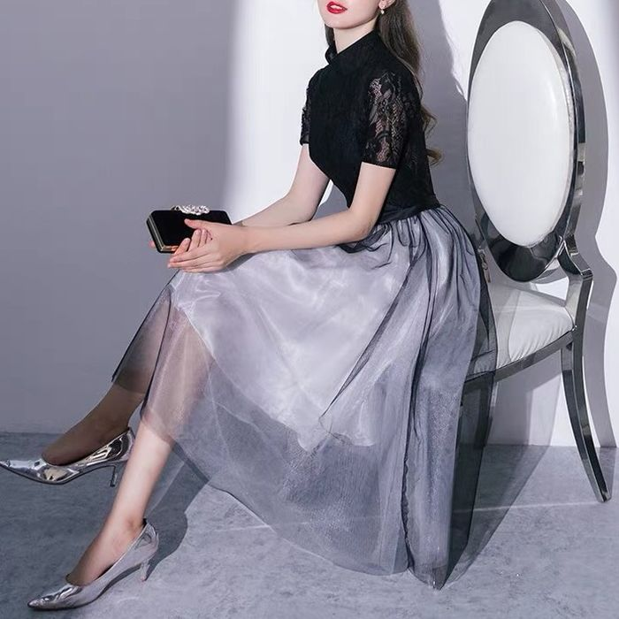 パーティードレス 韓国 開催中 ドレス ミディアム ミモレ ワンピース 総レース ハイネック 結婚式 二次会 ミニ 20代 白ホワイト黒ブラック S 3L L 長袖 XL オンラインショップ 30代 M 袖あり