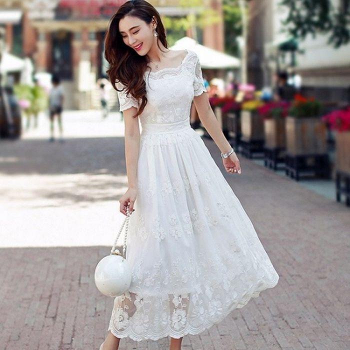ワンピース ドレス アンティーク クラシカル エレガント ロング 半袖 袖あり 上品 花嫁 前撮り 後撮り 20代 30代 40代 白ホワイト S/M/L/XL