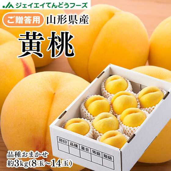 9月上旬より順次出荷予定 ブランド品 贈答用 品質検査済 山形県産 黄桃 約3kg 8~14玉 ※9月上旬より順次出荷予定 ギフト pc12 秀品