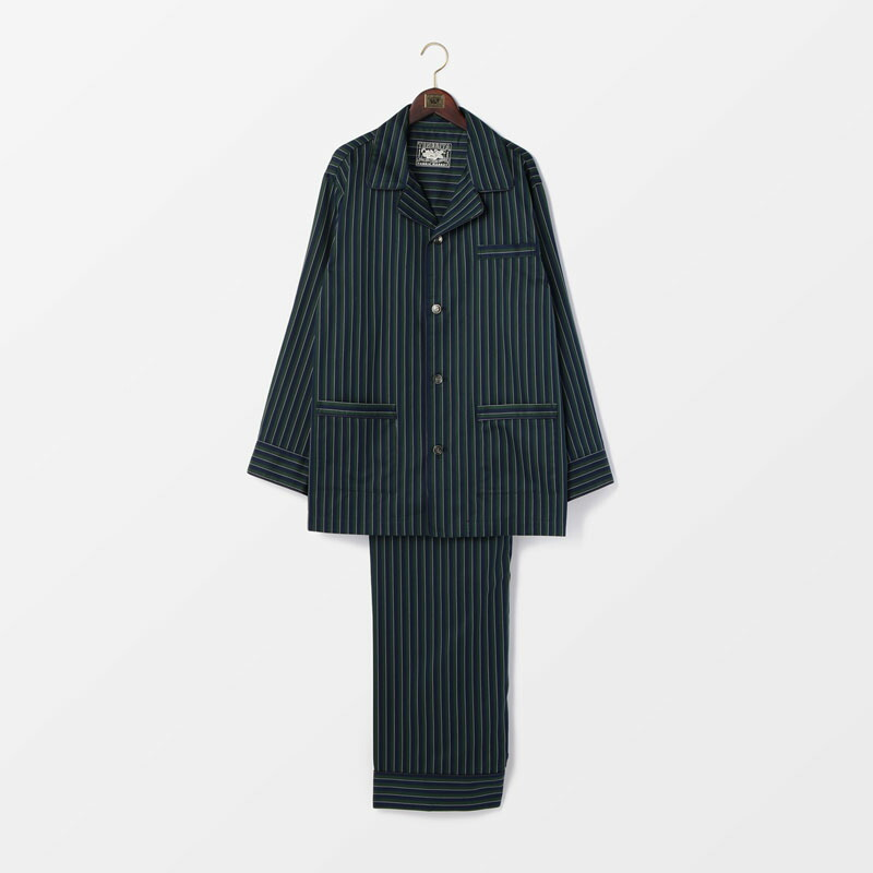 【SALE】リュクスサテンストライプメンズパジャマ 日本製 | テネリータ TENERITA