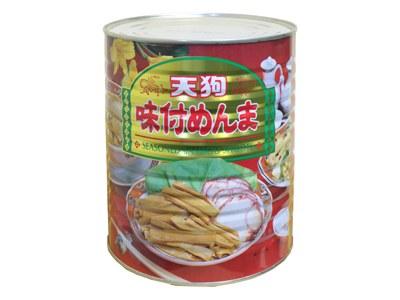 【6缶セット】 ※一部除 【公式】天狗缶詰 メンマ味付 中国原料国内製造 1号缶 固形2,000g 6缶 [業務用 食品 食材] ラーメントッピングに