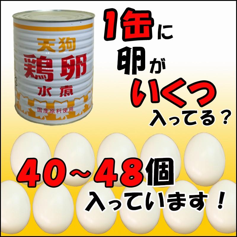 【6缶セット】 ※一部除 【公式】天狗缶詰 鶏卵水煮 M 1号缶 個数約40-48個 6缶 [7,000円以上で※一部除く/業務用食材] ゆでたまご ラーメン、おでん具材に タルタルソースにも