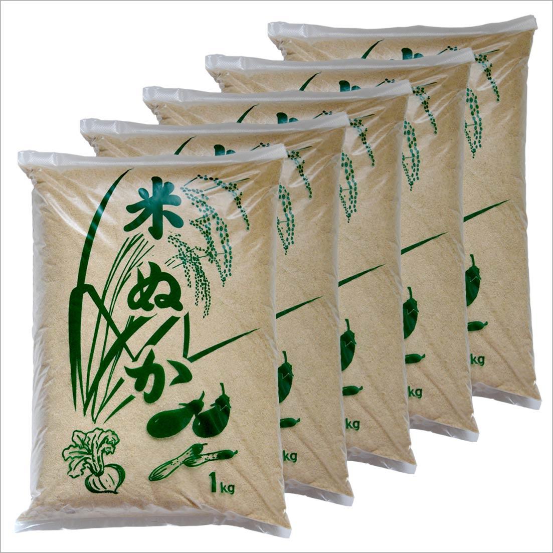 丹波 米ぬか 1kg×5袋セット 糠 米糠 兵庫県