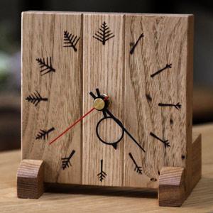 送料無料 オリジナル【置時計】 和室にも洋室にもよく馴染む手づくり木工品 《受注生産》 WS-1 オンリーワン