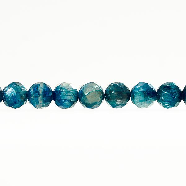 <ラウンドカット> カイヤナイト 6mm 一連 天然石 パワーストーン 【送料無料】 material