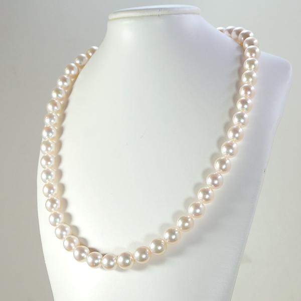 【20%OFF】 6月誕生石 世界に認められた 花珠真珠 パール 8.5-9.0mm ネックレス 鑑別書付 【送料無料】【返品不可・キャンセル不可】 jyuer