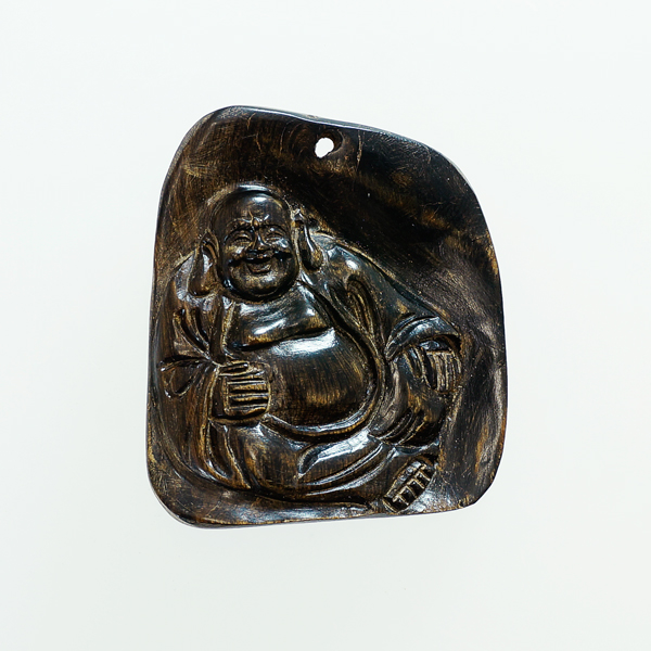香木 沈香 (じんこう) アロマ 水沈香 手彫り<布袋様> 置物 ペンダントトップ (25gアップ) material