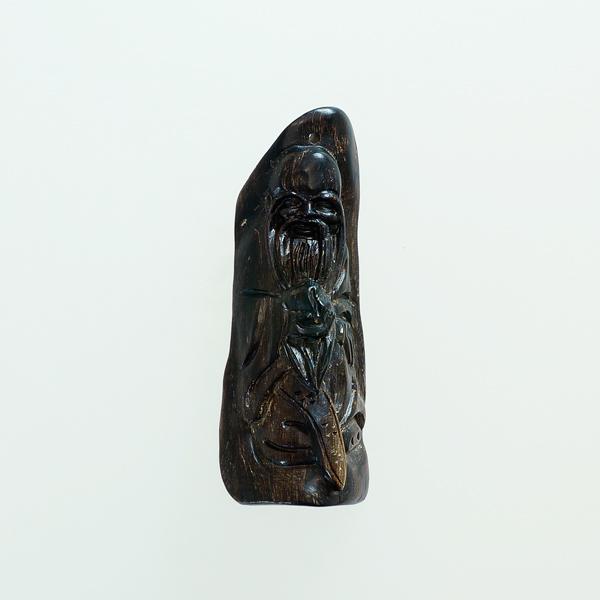 最高の香木 沈香 (じんこう) アロマ 水沈香 手彫り<寿老人様> 置物 ペンダントトップ (12g) material