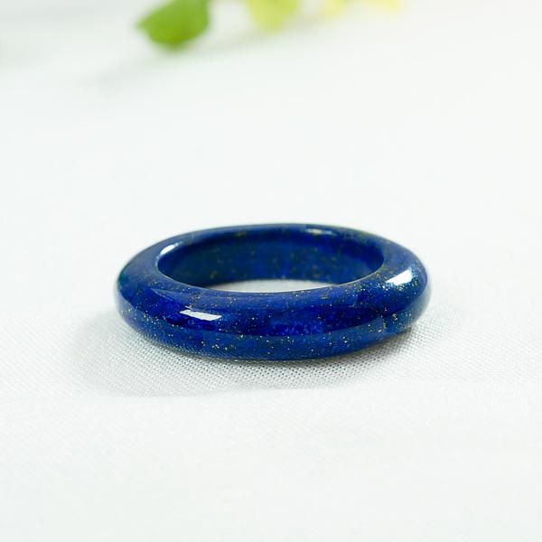 12月誕生石 5A級 ラピスラズリ リング 指輪 誕生石 ポーチ付 くりぬきリング 切り抜きリング 削り出しリング 天然石 パワーストーン 原石 レディース メンズ ブルー色 送料無料 jyuer