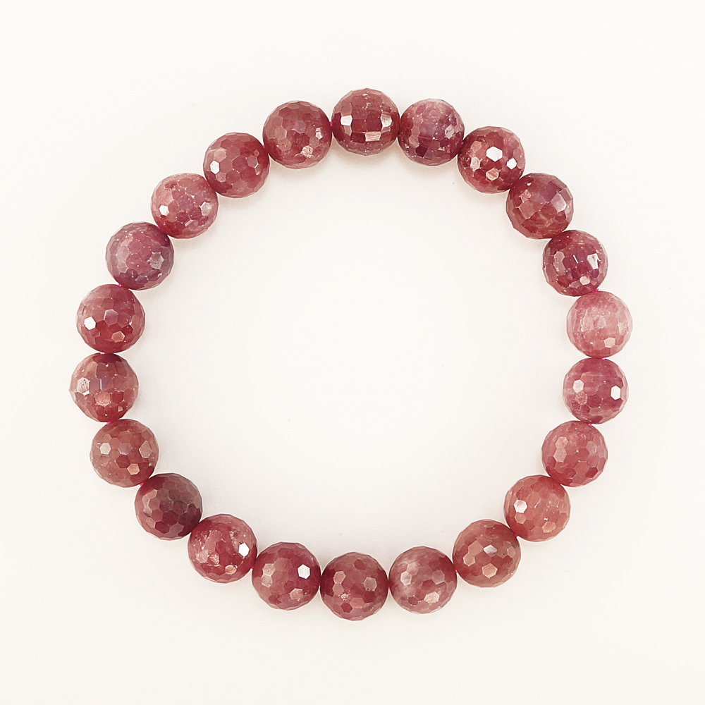 Ruby 9 5mm round cut bracelet beads bracelet accessories nature stone power  stone from Myanmar