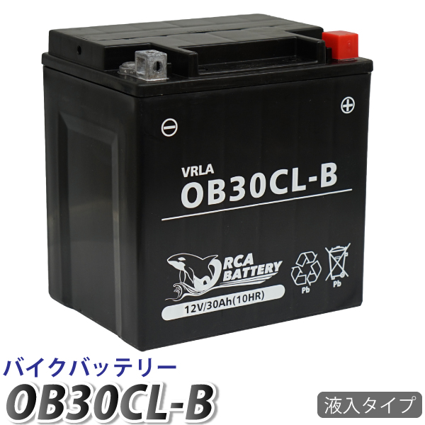 6ヶ月保証 送料無料 YB30CL-B 水上ジェットスキー バッテリー 充電 液注入済み 互換:YB30L-B FB30L-B ジェットスキー お洒落 OB30CL-B SEE-DOO WAKE215 WAKE155 4-TEC 超激安 水上バイク RXP マリンジェット 4ストローク YB30L-B GTX RXT