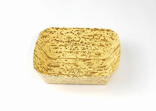 お弁当の仕切りに 竹皮紙容器 POTY-2 本体のみ サイズ100×90×高さ30ミリ 紙 SALE開催中 お弁当 仕切り 人気上昇中 竹皮柄