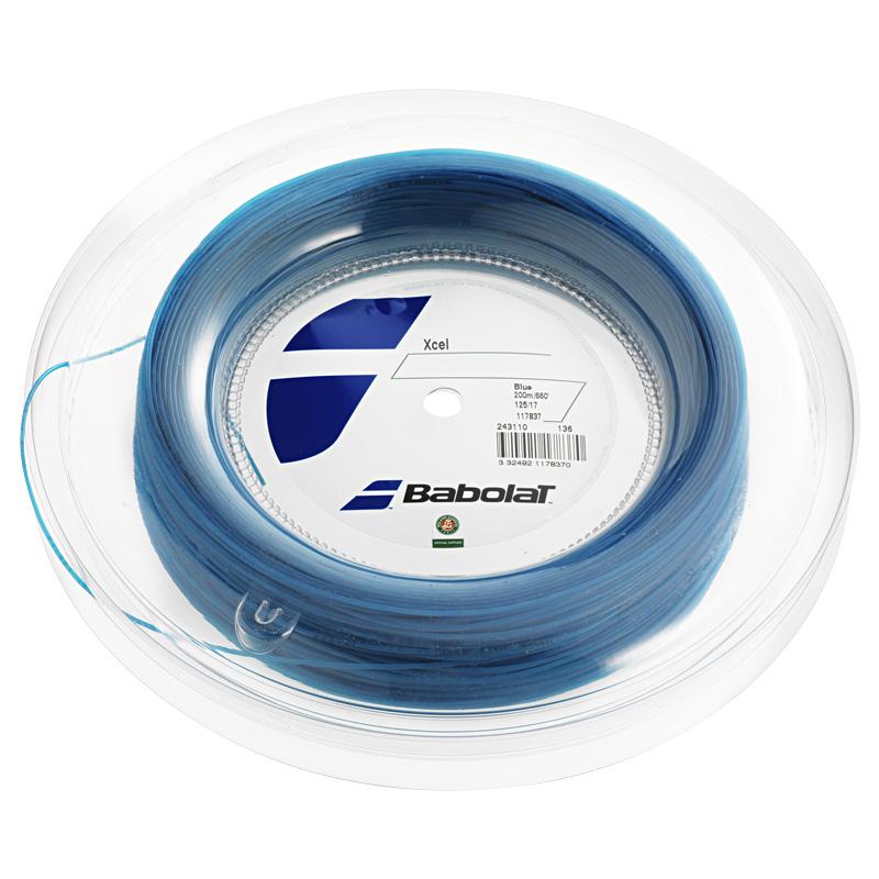 バボラ エクセル ブルー (125/130/135) 200Mロール 硬式テニス マルチフィラメント ガット (Babolat Xcel) 243110
