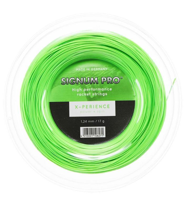 シグナムプロ エクスペリエンス (1.18/1.24/1.30mm) 200Mロール 硬式テニス ポリエステル ガット Signum Pro X-PERIENCE 200m roll strings