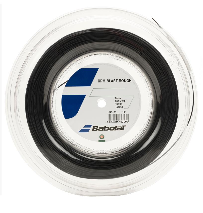 バボラ RPM ブラスト ラフ ブラック (125mm/130mm/135mm)200Mロール 硬式テニス ポリエステル ガット BABOLAT RPM BLAST ROUGH 【2017年2月発売】