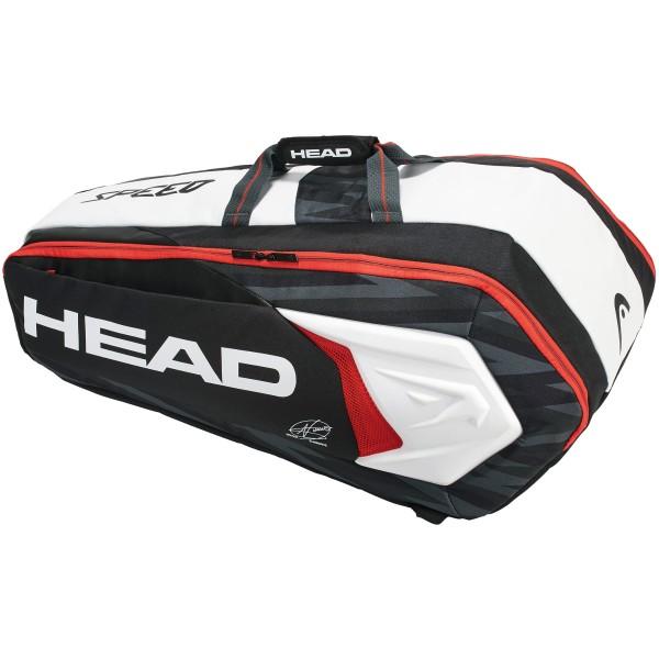 【ラケット収納可】【ジョコビッチ使用モデル】ヘッド(HEAD) 2018 ジョコビッチ 9R スーパーコンビ ラケットバッグ (Head 2018 Djokovic 9R Supercombi bag)