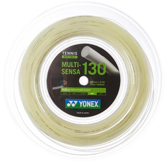 ヨネックス マルチセンサ(1.25/1.30mm) 200Mロール Yonex MULTI-SENSA (1.25/1.30mm) 200m roll strings