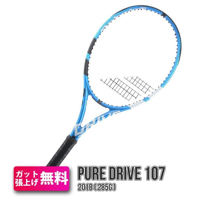 2018 バボラ ピュアドライブ 107 (285g) BF101347 (海外正規品) 硬式テニスラケット(Babolat 2018 Pure Drive 107 Rackets )【2017年8月】