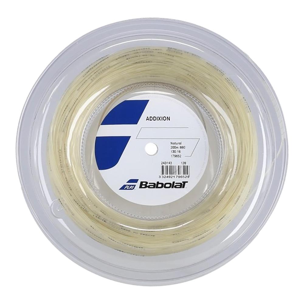 バボラ アディクション(125mm/130mm/135mm)200Mロール 硬式テニス マルチフィラメント ガット(Babolat Addixion / Addiction) 243078 / 243143
