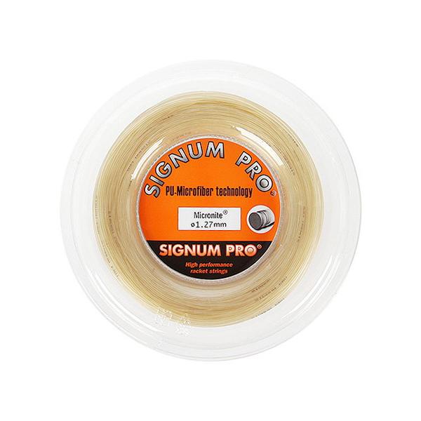 シグナムプロ マイクロナイト (1.27/1.32mm) 200Mロール 硬式テニス ポリエステル ガット Signum Pro Micronite 200m roll strings