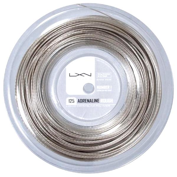 即納 ポイントアップ ルキシロン アドレナリン ラフ 1.25mm 200Mロール 硬式テニス 超特価 Reel Rough 大特価!! String ガット Luxilon Adrenaline ポリエステル 200m