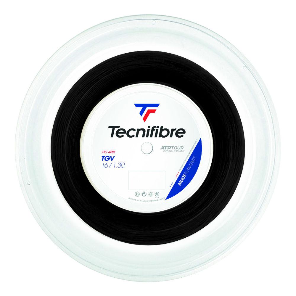 テクニファイバー TGV ブラック (1.25mm/1.30mm) 硬式テニス マルチフィラメントガット (Tecnifibre TGV 1.25mm/1.30mm)
