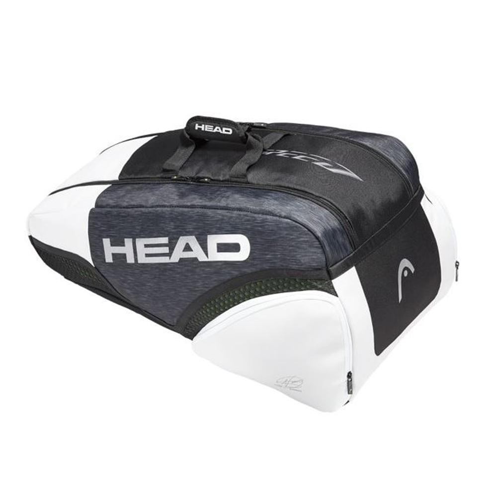 【ラケット収納可】【ジョコビッチ使用モデル】ヘッド(HEAD) 2018 ジョコビッチ 9R スーパーコンビ ラケットバッグ 283019-BKWH (Head 2018 Djokovic 9R Supercombi bag)【2018年8月登録】