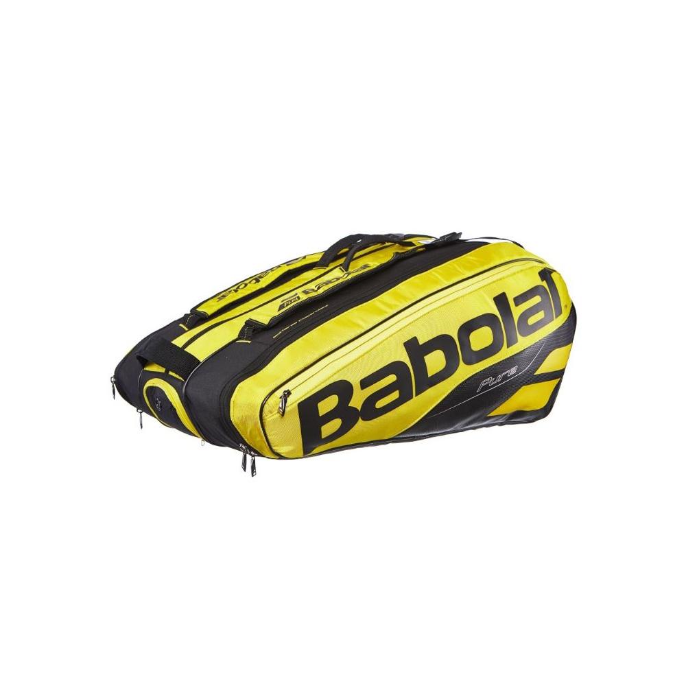 【12本収納】2019 バボラ ピュアアエロラケットバッグ 12本入 BB751180-191 ( 2019 Babolat Pure Aero Racket Holder x 12 ) 【2018年10月】(イエロー/ブラック)
