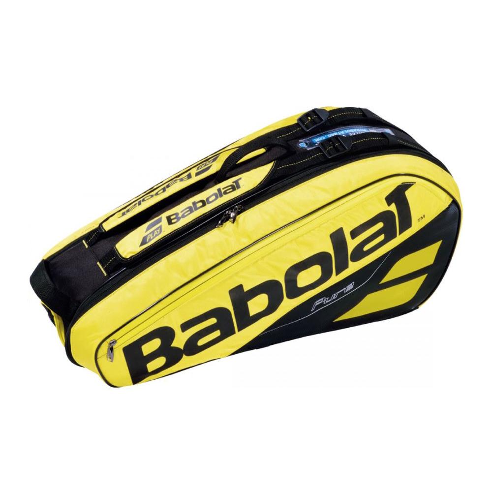 【6本収納】2019 バボラ ピュアアエロラケットバッグ 6本入 BB751182-191 ( 2019 Babolat Pure Aero Racket Holder x 6 ) 【2018年10月】(イエロー/ブラック)