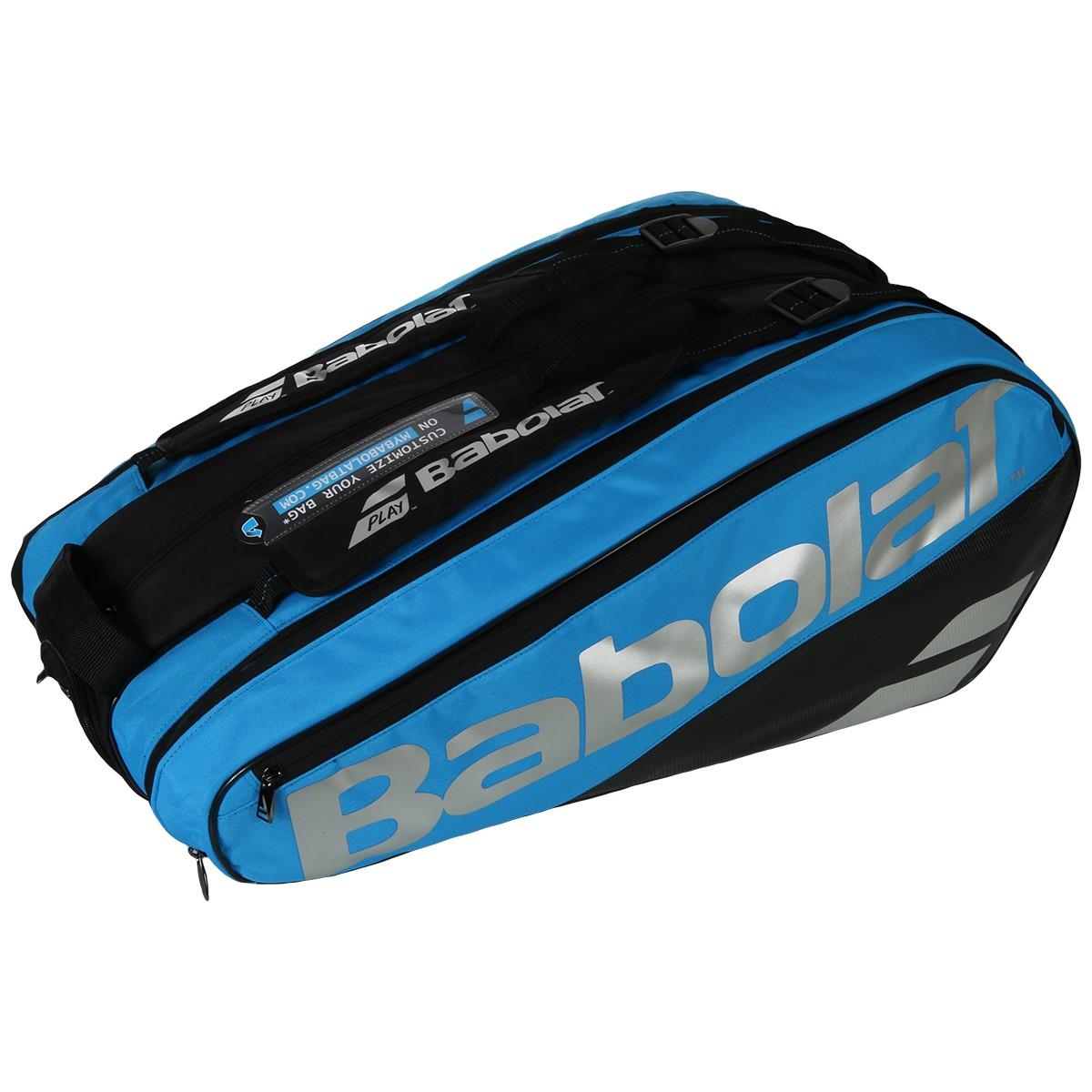 テニス 【9本収納】2019 バボラ ピュアドライブ VS ラケットバッグ 9本入 BB751200 ( 2019 Babolat Pure Drive VS Racket Holder x 9 )(ブルー/ブラック)