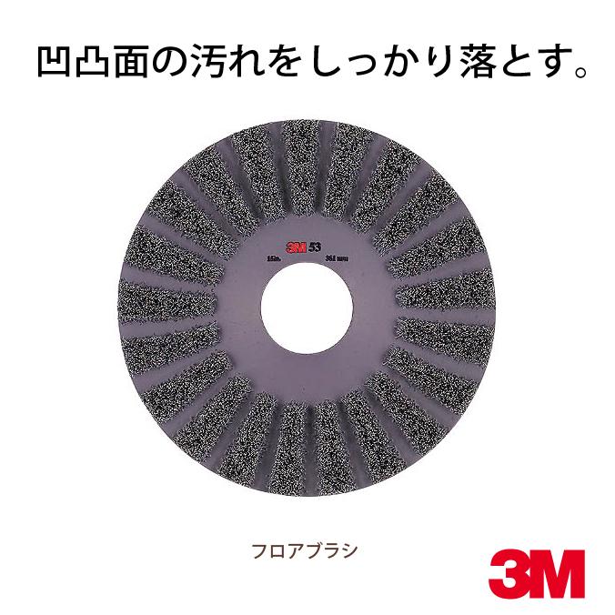 【ポリッシャー用フロアパッド】 3M Japan(スリーエムジャパン)フロアブラシ洗浄用(No.53) 17インチ(432mm)[掃除 清掃 業務用]