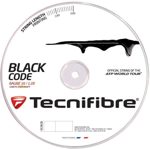 テクニファイバーTECNIFIBRE ブラックコード BLACK CODE【テニスガット(ロールガット200m)】【売れ筋】