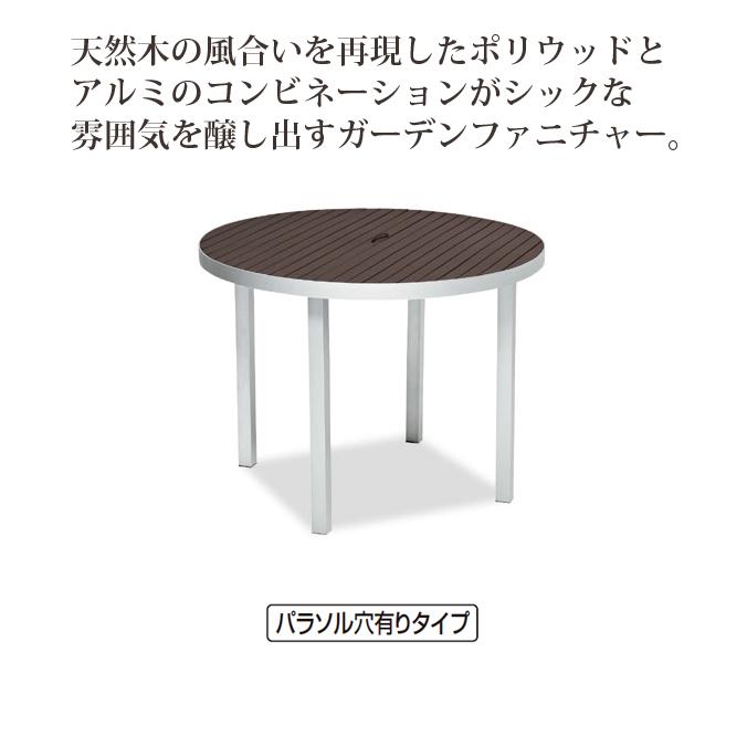 【ガーデン用品】サンレノテーブル100 (テラモト MZ-593-000-4)[ガーデン用品 学校 工場 激安]