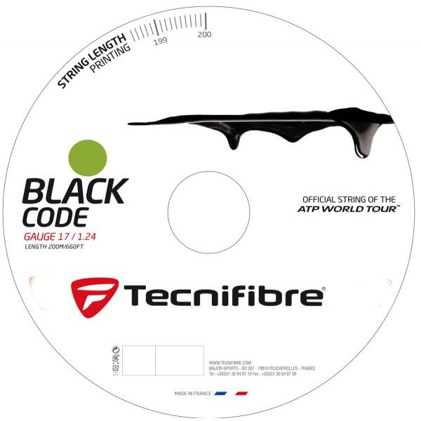 テクニファイバー ブラックコード ライム 200mロール(Tecnifibre BLACKCODE)各ゲージ