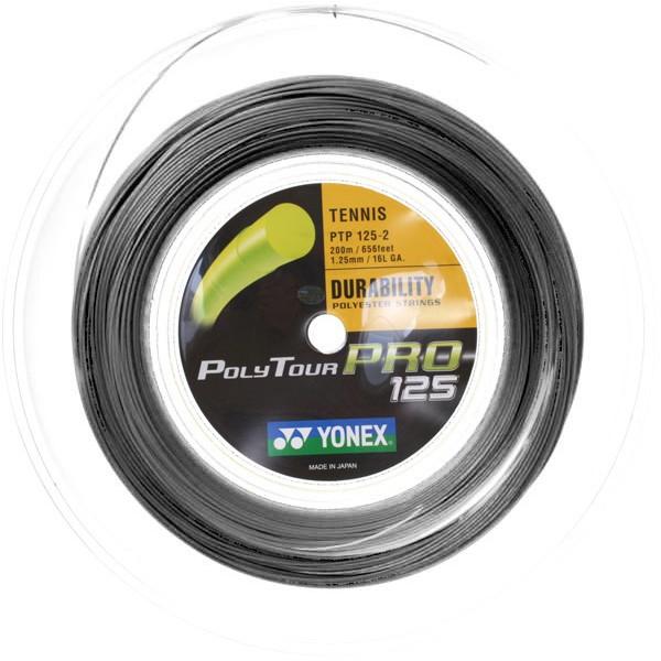 ヨネックス ポリツアープロ グラファイト(黒系) 1.25mmYonex Poly Tour Pro200mロールガット