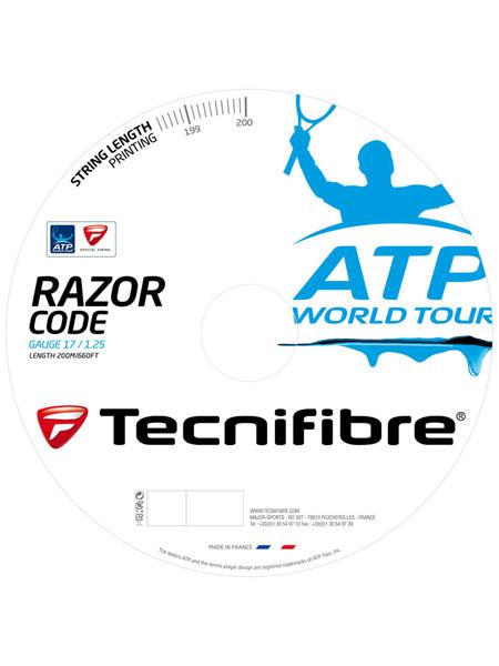 テクニファイバー レーザーコード 200mロール(Tecnifibre RazorCode)各ゲージ1.20mm 1.25mm 1.30mm