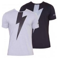 【2019春夏】ハイドロゲン サンダーテック Tシャツ(黒/グレー) HYDROGEN THUNDERBOLT TECH T-SHIRT