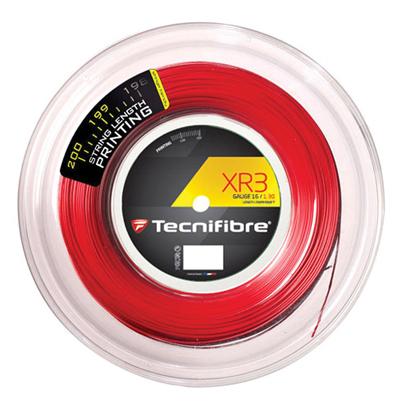 テクニファイバー エックスアール3 赤 Tecnifibre XR3 200mロール /各ゲージ
