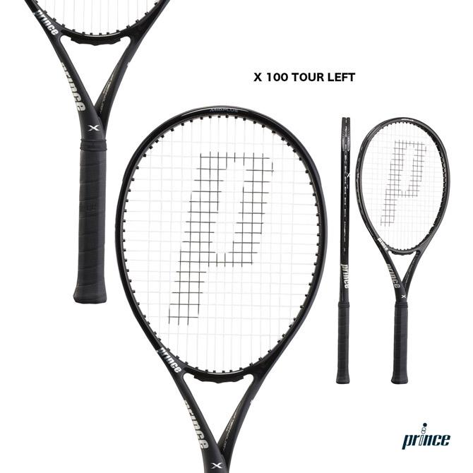 【応援クーポン10%OFF対象商品:9月20日まで】プリンス prince テニスラケット エックス 100 ツアー レフト X 100 TOUR LEFT(左利き用) 7TJ093